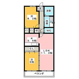 グラン・アベニュー富船[7階]の間取り