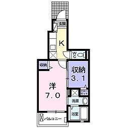 プチフローラ北野田I[1階]の間取り