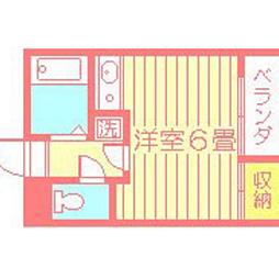 メゾンドール荒田[207号室]の間取り