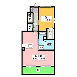 愛知県名古屋市港区善南町の賃貸アパートの間取り