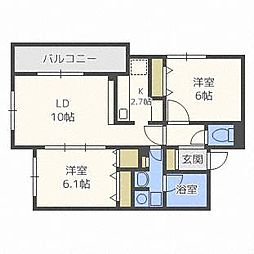 エルファロ76[2階]の間取り
