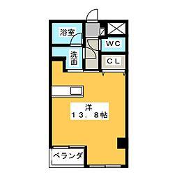 アブニール広田[3階]の間取り