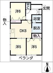 マンション豊泉[2階]の間取り