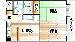 オリエンタル小倉南弐番館[7階]の間取り