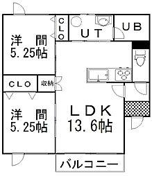 Anh(アイン) 2階2LDKの間取り
