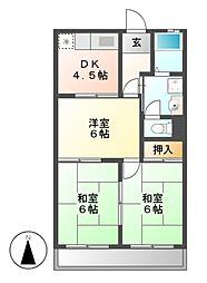 ファインマンション1[3階]の間取り
