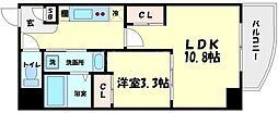 マリンズ心斎橋III[8階]の間取り