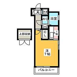 エステートモア博多公園通り[13階]の間取り