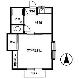 コーポ台太郎[1階]の間取り