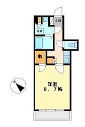 神奈川県川崎市高津区二子1丁目の賃貸マンションの間取り