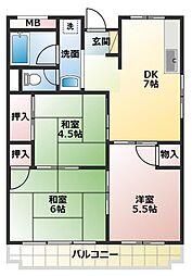 柴田マンション[5階]の間取り