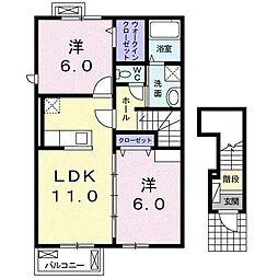 リヴァ・ケープ[2階]の間取り