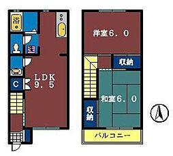 [テラスハウス] 千葉県習志野市本大久保3丁目 の賃貸【/】の間取り