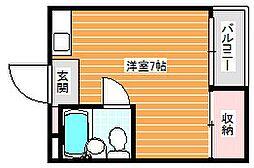 大阪府大阪市住之江区御崎2丁目の賃貸マンションの間取り