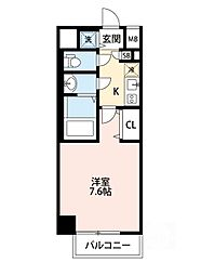 ウインズコート江坂東[6階]の間取り