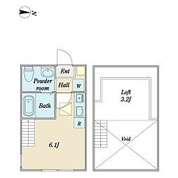 アドラブール日吉II 1階ワンルームの間取り