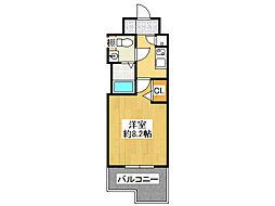 レジュールアッシュNAMBA MINAMI−III[15階]の間取り