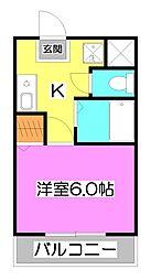 埼玉県ふじみ野市上福岡3丁目の賃貸マンションの間取り