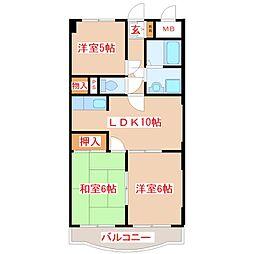エレガンスマンション新村[2階]の間取り