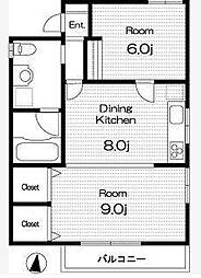 プリマヴェーラ代々木B棟[3階]の間取り