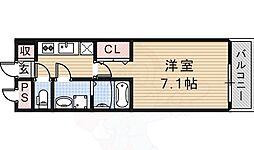 大阪モノレール彩都線 豊川駅 徒歩5分の賃貸アパート 3階1Kの間取り