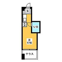 ビラカレッジ3[1階]の間取り