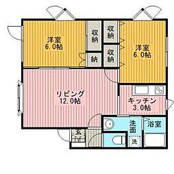 マンション作田[2階]の間取り