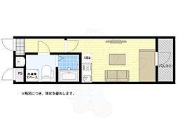 西武新宿線 武蔵関駅 徒歩4分の賃貸マンション 4階ワンルームの間取り
