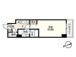 JR山陽本線 広島駅 徒歩19分の賃貸マンション 3階1Kの間取り