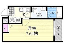 京都地下鉄東西線 二条駅 徒歩17分の賃貸マンション 3階1Kの間取り