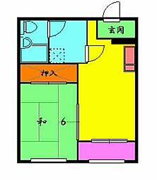 オレンジハウス八尾[1-0402号室]の間取り