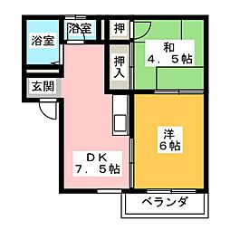 フォーブル溝口[1階]の間取り
