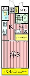 フォアサイトYUKI[2階]の間取り