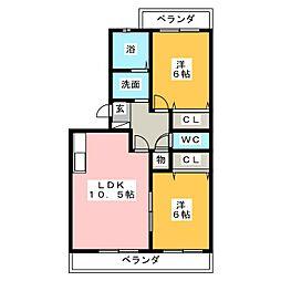 ロワイヤルS弐番館[1階]の間取り