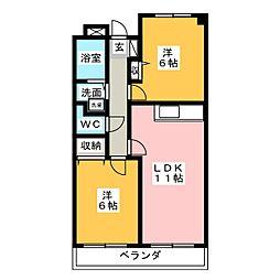 レアール島田[2階]の間取り