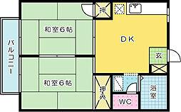 プレジール藤[205号室]の間取り