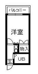 ゼフィランサス衣笠[210号室]の間取り