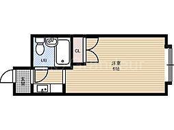 シャンポール中野[5階]の間取り