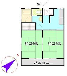 神奈川県横須賀市長浦町3丁目の賃貸アパートの間取り
