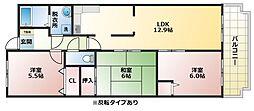 アネックス太子堂[5階]の間取り