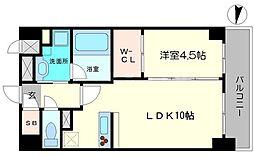 フランディル・オーラ江坂[5階]の間取り