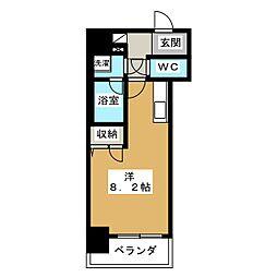 アドバンス京都四条堀川ノーブル[3階]の間取り