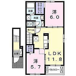 仮)北島田1丁目アパートA[203号室]の間取り