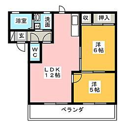 VALUGE勝川 A棟[2階]の間取り