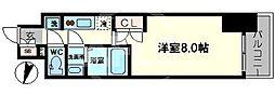 サムティ阿波座ベルシア 8階1Kの間取り