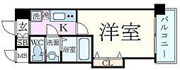 Luxe新大阪EASTII 4階1Kの間取り