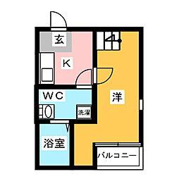 ハッピーフォエバー箱崎[2階]の間取り