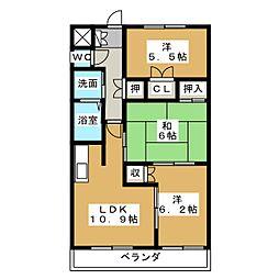 アマービレ[2階]の間取り