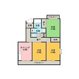 K−HOUSE[106号室]の間取り