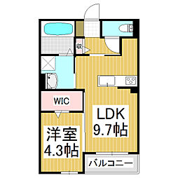 sacrale 3階1LDKの間取り